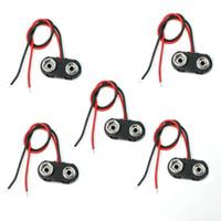 9 volt batteries - 5 I Type V Volt Battery Clip Connectors Buckle Cable