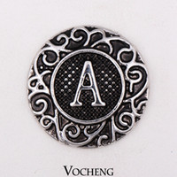 metal letters - Vocheng Noosa Vintage English Letters Ginger Snaps Metal Snap Button Interchangeable Jewelry Accessory Vn