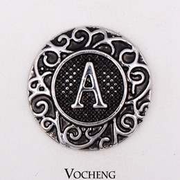 Wholesale Vocheng Noosa Vintage English Letters Ginger Snaps Metal Snap Button Interchangeable Jewelry Accessory Vn