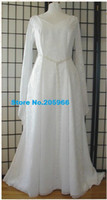 Cheap Custom Made Renaissance Bride Celtic Wedding Iona Gown Party Costume Tudor Dress