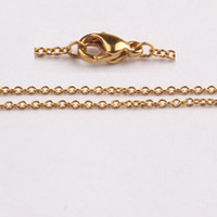 Wholesale mm High quality K gold plated stainless steel necklace pendant chains