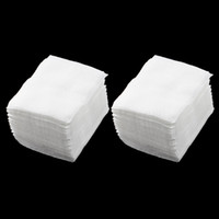 face cleaning wipes - 320pcs Lady White Nail Polish Remover Rectangular Face Cleaning Cotton Pads