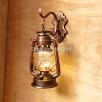 barn oil - RH LOFT Barn Vintage Kerosene Wrought Iron Wall Lamp Oil Light Cafe Bar Aisle Lantern Dinning V V