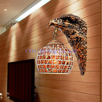 art gallery designs - Decorative Eagle Design Wall Lamp With Mosaic Glass Lamp Shade For Gallery Shipped In Hours