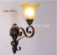 antique floral lamps - led classic antique wall lamps glass amp iron finishing base with floral shaped glass wall lamp