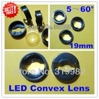 Wholesale mm degree adjustable LED Lens led Convex lens with black holder set for sale Luxeon Seoul Edison Cree lens