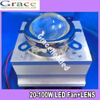 aluminium sink - W LED Aluminium Heat Sink Cooling Fan Reflector Bracket mm Lens degree