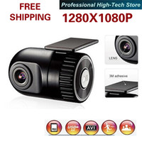 Wholesale P D168 HD Smallest Car Camera high definition wide angle lens V Car DVR Cam recorder G sensor