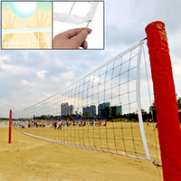 volleyball net - 9M Long White Trim Black Nylon Braided Knotted Sports Volleyball Net