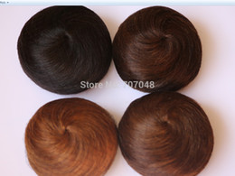 Wholesale Pony Tail Hair Extension Bun Hair piece Scrunchie 100% hair bun