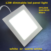 Cheap Wholesale-Airmail shipping, SMD2835 led ceiling,AC85-265V,warm white white,880lm,12W dimmable square shape mini led panel light