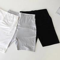 al por mayor polainas de maternidad cortos-Al por mayor-venta Caliente nuevo de 2015 las mujeres de la maternidad ropa casual de verano de la maternidad cortos pantalones de algodón 100% de la maternidad vientre pantalones leggings