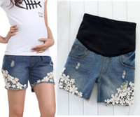 100 cotton jeans for women - Cotton New Summer Pregnant Fashion Women Maternity Shorts Elastic Jeans for Pregnant Women Maternity Abdominal Pants