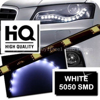 """Cheap Wholesale-Free Shipping 4pcs 30cm 12"""" 12LED smd led flexible strips car truck bus Strip light Waterpoof Xenon Daytime Running Light"""