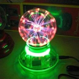 Wholesale magic ball lamp inch Household electric crystal plasma ball dream neon USB or round Plug or generator car interior light P C