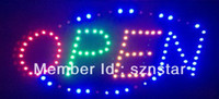 business open sign - LED screen Electronic window word sign neon lamp Business poster sign board Moving display light LED open sign