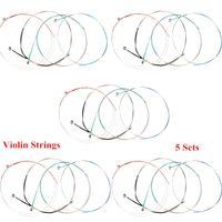 alice violin strings - 4pcs Professional Violin Strings Steel Core Super Light Set for Size Violin Alice A703 New Arrival I514