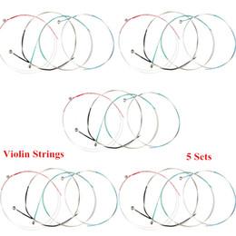 Wholesale 4pcs Professional Violin Strings Steel Core Super Light Set for Size Violin Alice A703 New Arrival I514