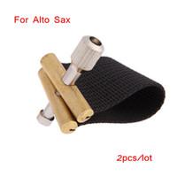 Wholesale 2pcs Compact Durable Ligature Fastener for Alto Sax Saxophone Rubber Mouthpiece Nylon Material Saxophone Accessories I509