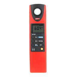 Wholesale Professional UNI T UT381 Digital LCD Auto Range LUX FC Luminometer Lux Meter Illuminance Measurement Photometer Measure Luxmeter H12320