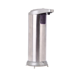 Wholesale Soap Dispenser Automatic IR Sensor Stainless Steel Liquid Hand Free Sanitizer ML Champagne Bathroom Accessories H12597
