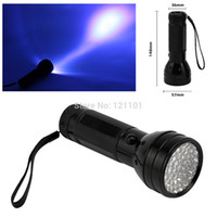 Cheap Wholesale-Drop shipping 5W Black Flashlight 51 UV LED Torch Scorpion Detector Hunter Finder Ultra Violet Black light Torch Light Lamp