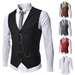 Wholesale 2014 winter vest men chaleco colete the nort face waistcoat chalecos jacket coat gilet short solid color shaping V collar slim
