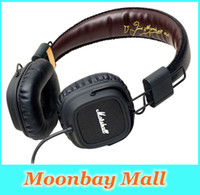Cheap Wholesale-Marshall Major Leather Noise Cancelling Deep Bass Stereo Monitor DJ Hi-Fi Headphones Headset W Remote free shipping