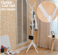 Wholesale NEW European style coat rack wooden tree fork coat racks stand hooks wooden living room furniture Home Furnishing Decor