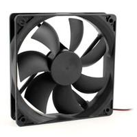 Wholesale 120mm Black Plastic Computer PC Case Cooling Fan DC V Pin RPM