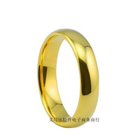 Wholesale Fashion real k gold rings for women L stainless steel gold plated ring wedding rings