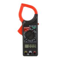 amp ac digital - Professional C Digital Clamp Meter AC DC Volt AC Amp Ohm Meter Insulation Tester Temperature Sensor Meter Tester H13476