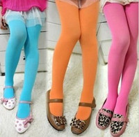 Wholesale New Fashion Candy Color Velvet Tights Girls Kids Children Bottoming Students Dancing Pantyhose Bottoming Pants Free Ship