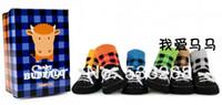 Wholesale pairs Shoelace plaid baby boy toddler socks non slip socks fake shoes socks