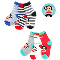 Wholesale pairs High Quality Cotton Baby Socks Cartoon Monkey Wild Children Socks CM CL0411
