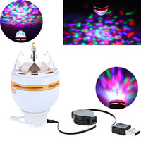 usb rgb - Auto Full Color effect rotating V with USB interface RGB LED Crystal Stage Light bar Light KTV light Bulb Lamp free ship H9452