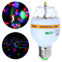 Wholesale New Hot Sale RGB Rotating Stage Light Effect E27 LED Club Sound activated Bulb W Remote Control H9183