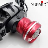 Wholesale YUPARD PC NEW Design HeadLight CREE XML XM L2 LED Lumens Mode Waterproof Zoom Focus Front Light LED HeadLamp super T6