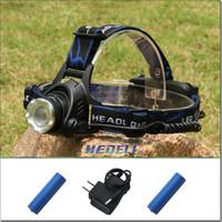 Wholesale HEDELI promotion New XM L T6 LM powerful light led flashlight led head light headlamp bike led direct charger HT404