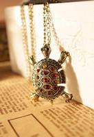 Wholesale fashion turtle pendant necklace XL222