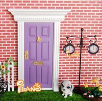 fairy door - ilan Dolls house Miniatures Lovely Fairy Doors Attractive Purple Exterior Door W Metal Accessories Exquisite