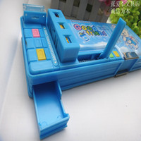 Wholesale Multifunctional stationery box pencil box double faced automatic plastic pencil case
