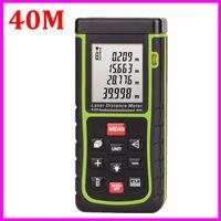 measuring tape - New RZ40 m ft Digital Laser distance meter Rangefinder Bubble level Tape measure Area volume tester