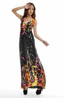 hawaiian dresses - New Women Bohemian Hawaiian V Neck Long Beach Dress plus size print dress maxi dress xl xl