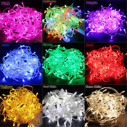 Wholesale String Lights Drop Shipping - Wholesale-LED String Light 20M 220V 200 LEDS Decoration light Party Wedding Christmas lights 9 Colors High Quality Drop Shipping B26
