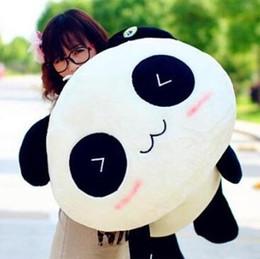Promotion oreillers panda en peluche Gros-20cm panda géant oreillers Mini Peluches Peluche Poupée animaux en peluche Bolster Pillow Kids Day cadeau cadeau de Saint-Valentin Doll