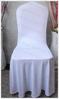 Wholesale g m2 Lycra Fabric White Color Elegant Pleated Swag Spandex Chair Cover For Wedding Decoration Party
