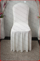 Wholesale Ivory Color Elegant Pleated Swag Spandex Chair Cover Lycra Chair Cover Backdrop For Wedding Party Hotel Banquet Home Decorations