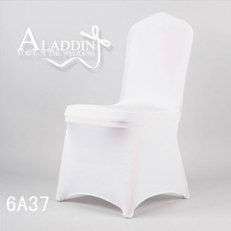 Wholesale Elastic Polyester amp white Spandex Lycra Hotel Wedding banquet Chair Cover