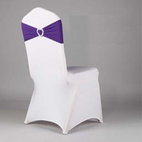 Wholesale Love diamond buckle flower elastic belt chair back chair cover chair decoration bow bandage set wd13003